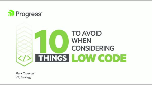 Top 10 Things to Avoid When Considering Low-Code
