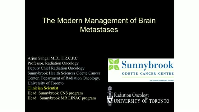 The Modern Management of Brain Metastases