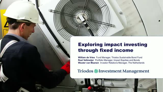 Impact investing through listed fixed income