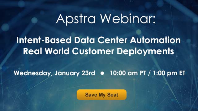 Intent-Based Data Center Automation: Real World Customer Deployments