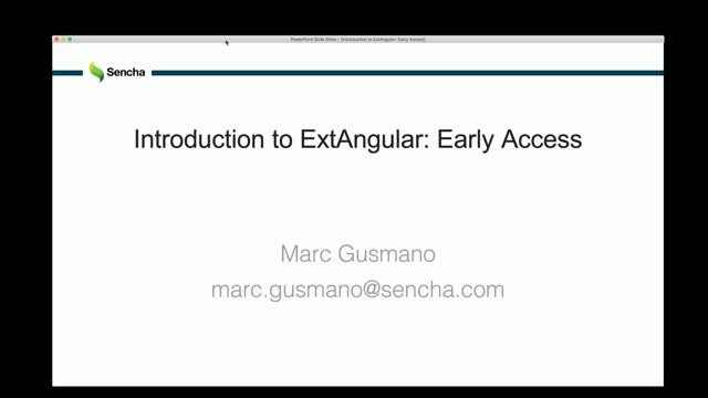 SNC - Introduction to ExtAngular: Early Access