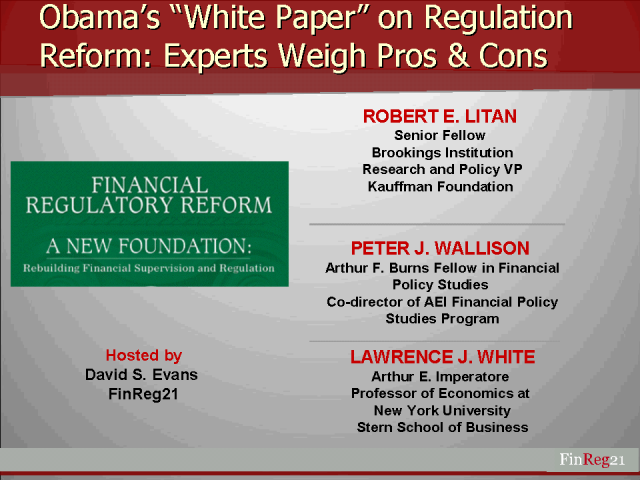 "Experts Weigh Benefits and Disadvantages of Obama's ""White Paper"""