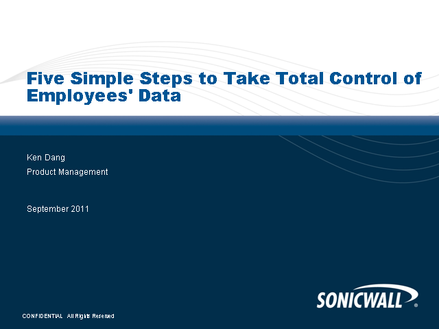 Five Simple Steps to Take Total Control of Employees' Data