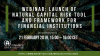 Launch of natural capital risk tool and framework for financial institutions