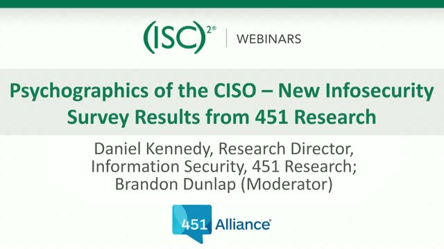 Psychographics of the CISO – New Infosecurity Survey Results from 451 Research