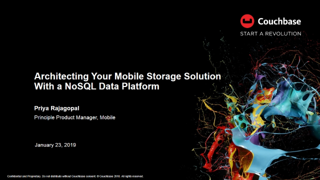 Architecting Your Mobile Storage Solution With a NoSQL Data Platform