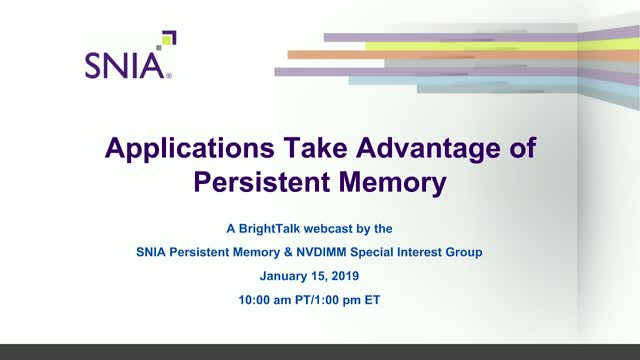 Applications Take Advantage of Persistent Memory