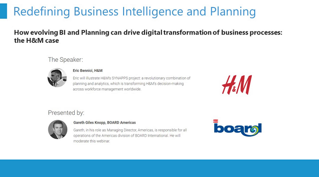 Redefining Business intelligence and planning: the H&M and BOARD case study