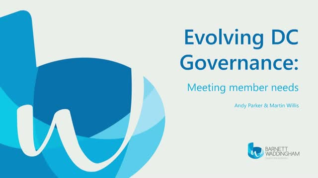 Evolving DC governance: meeting member needs