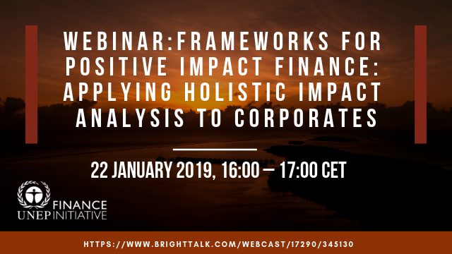 Frameworks for Positive Impact Finance: holistic impact analysis for corporates