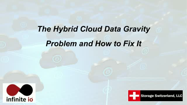 The Hybrid Cloud Data Gravity Problem and How to Fix It