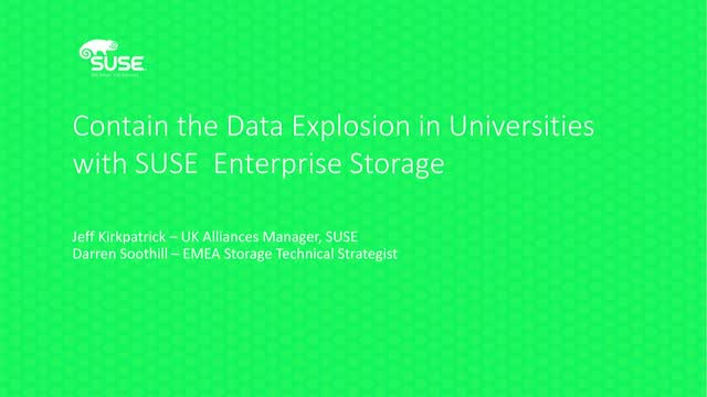 Contain the Data Explosion in Universities