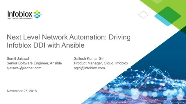 Next Level Network Automation: Driving Infoblox DDI with Ansible