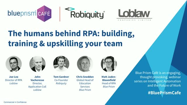 The humans behind RPA: building, training & upskilling your team