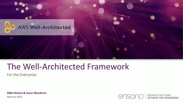Ensono | AWS Well Architected Review for the Enterprise