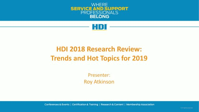 HDI 2018 Research Review: Trends and Hot Topics for 2019