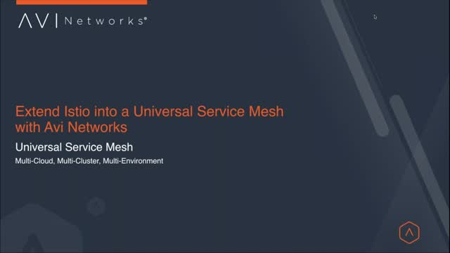 Extend Istio into a Universal Service Mesh