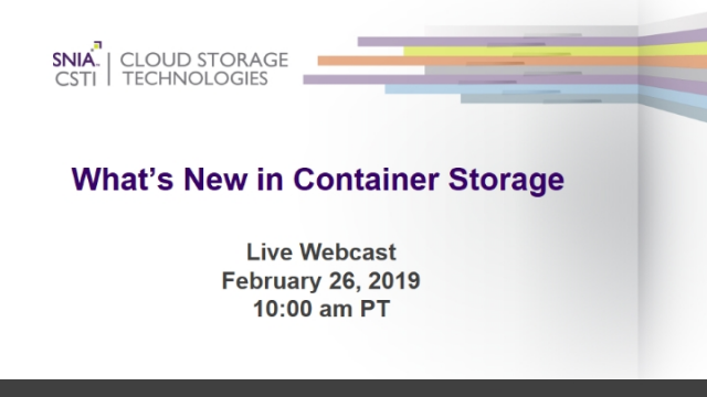 What's New in Container Storage