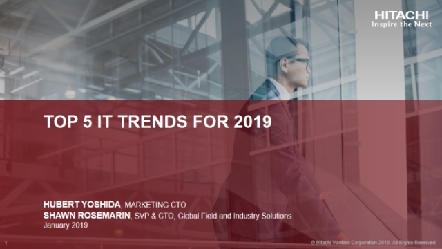 Top 5 IT Trends for 2019