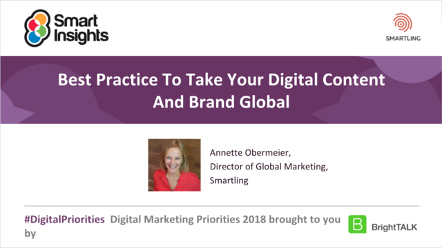 Best Practice To Take Your Digital Content And Brand Global