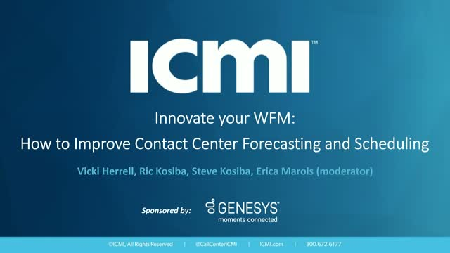 Innovate your WFM: How to Improve Contact Center Forecasting and Scheduling