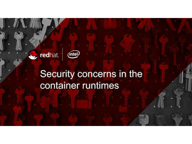 Security Concerns in the Container Runtimes