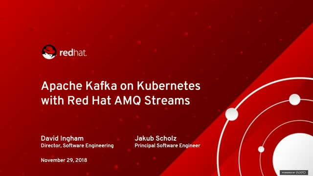 Run Apache Kafka on Kubernetes with Red Hat AMQ streams