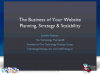 The Business of Your Website: Planning, Strategy & Scalability