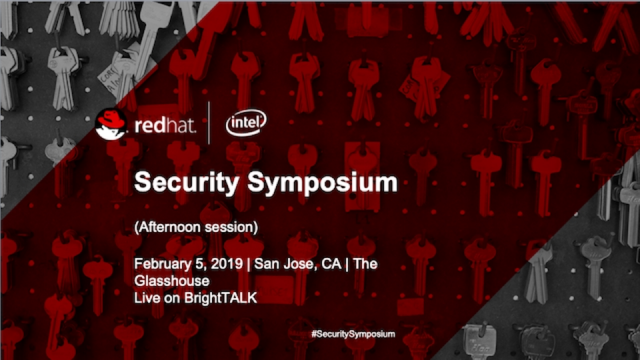 Security Symposium 2019 - Afternoon Session