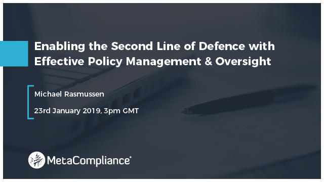 Enabling the Second Line of Defence with Effective Policy Management & Oversight