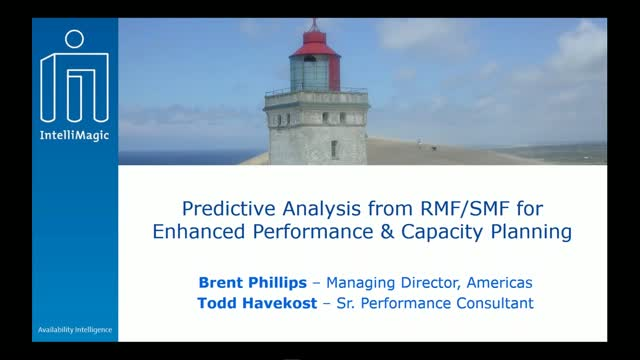 Predictive Analysis from RMF/SMF for Enhanced Performance & Capacity Planning