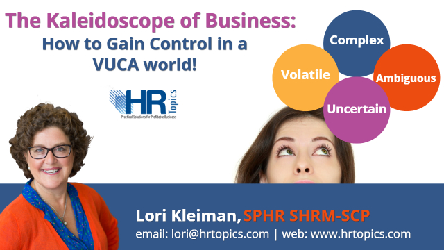 The Kaleidoscope of Business: How to Gain Control in a VUCA world!