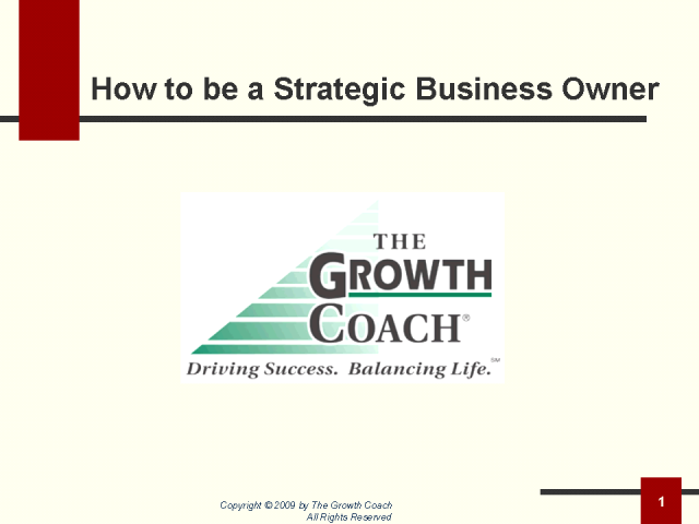 How to be a Strategic Business Owner
