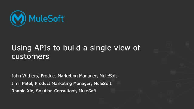 Using APIs to build a single view of customer