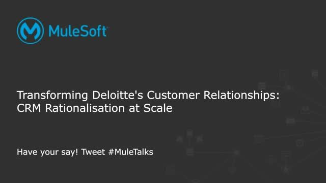 Transforming Deloitte's customer relationships: CRM rationalization at scale