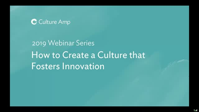 How to create a culture that fosters innovation