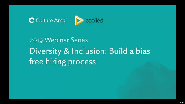 Diversity & Inclusion: Build a bias-free hiring process