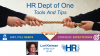 HR Dept of One: Tools and Tips