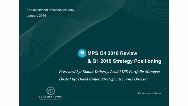 Quilter Cheviot Investment Update: MPS Q4 Review and Re-positioning webinar