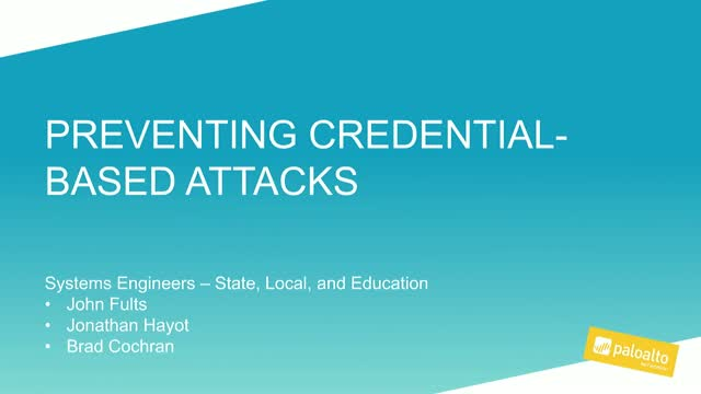 Protecting against credential-based attacks