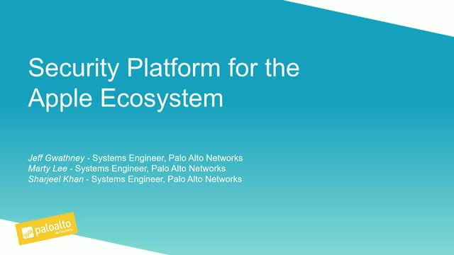 Leveraging a Security Platform for the Apple Ecosystem