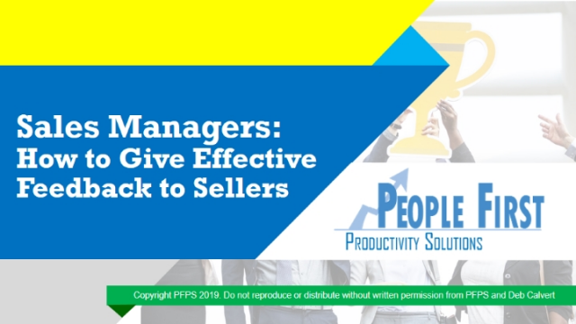 Sales Managers: How to Give Effective Feedback to Sellers
