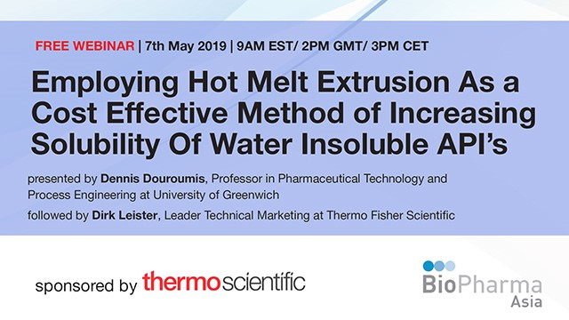 Employing Hot Melt Extrusion As a Cost Effective Method of Increasing Solubility
