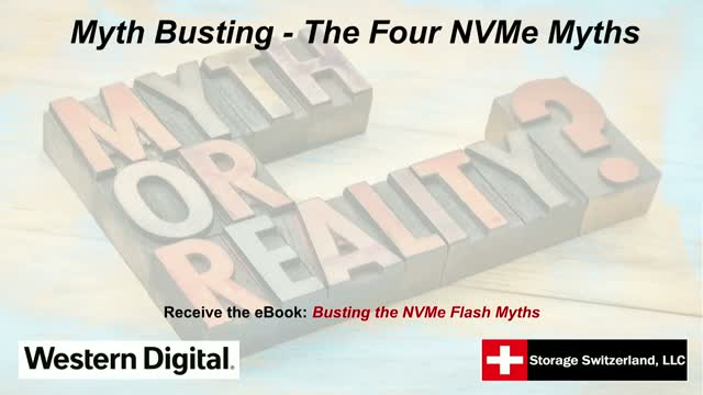 Myth Busting - The Four NVMe Myths