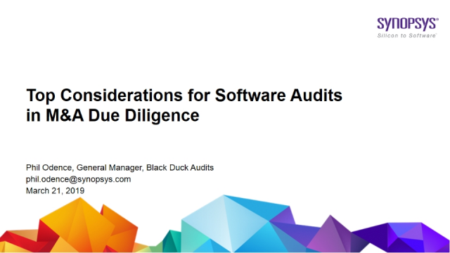Top Considerations for Software Audits in M&A Due Diligence