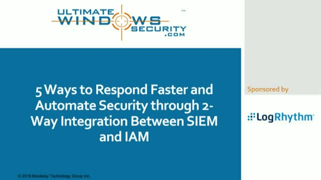 Automate security with integration between SIEM and IAM