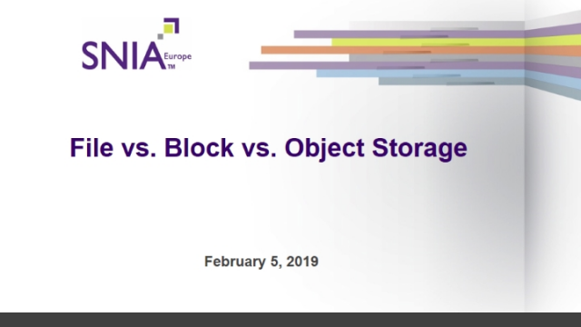 File vs. Block vs. Object Storage