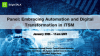 Panel: Embracing Automation and Digital Transformation in ITSM