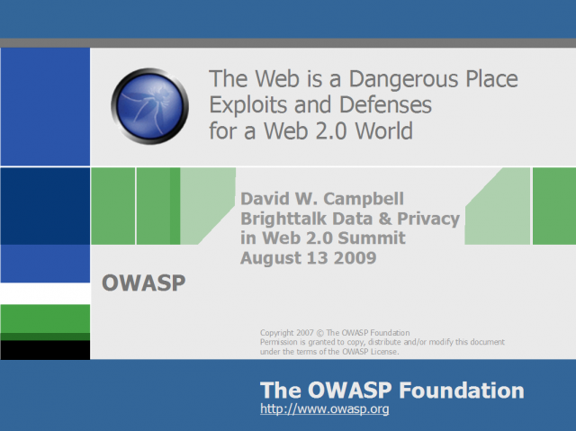 Exploits and Defenses for a Web 2.0 World