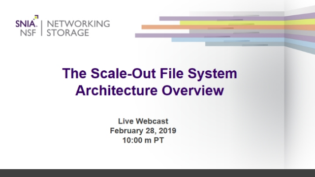 The Scale-Out File System Architecture Overview